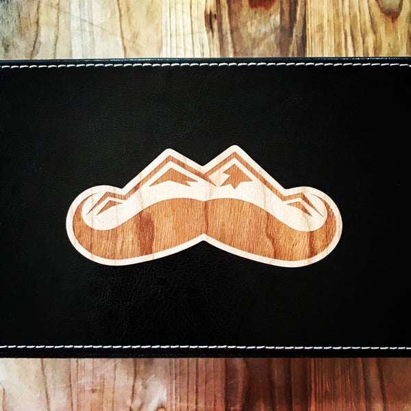 Wood Sticker | Mustache Mountain Logo