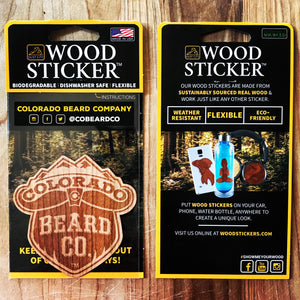 Wood Sticker | CoBeardCo Logo