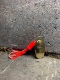 #5 Salt Ringer W/ Hootchie Brass/Flo Rocket Red