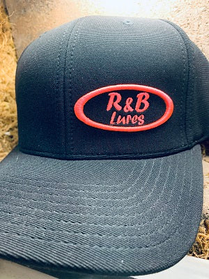 R&B Black with Pink Stitch Pacific Headwear  Performance Hat