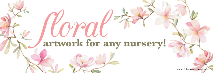 Floral Artwork for Any Nursery