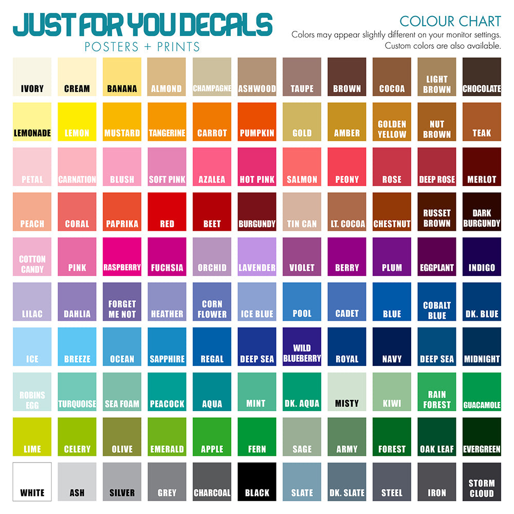 Sample Color Chart