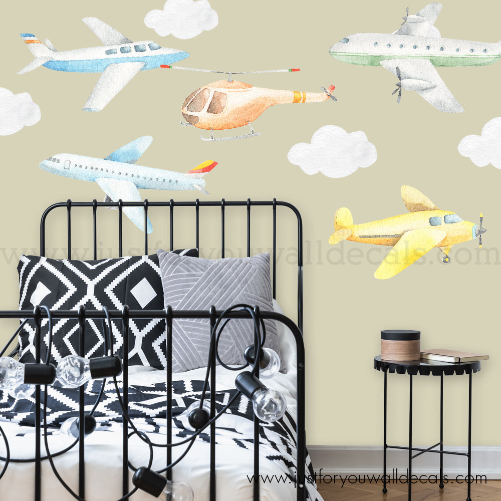 Airplane Wall Decals - Nursery Wall Decals