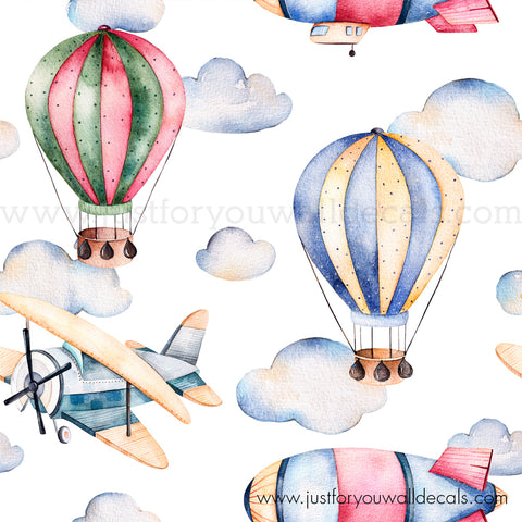Sample Hot Air Balloon And Airplane Wallpaper