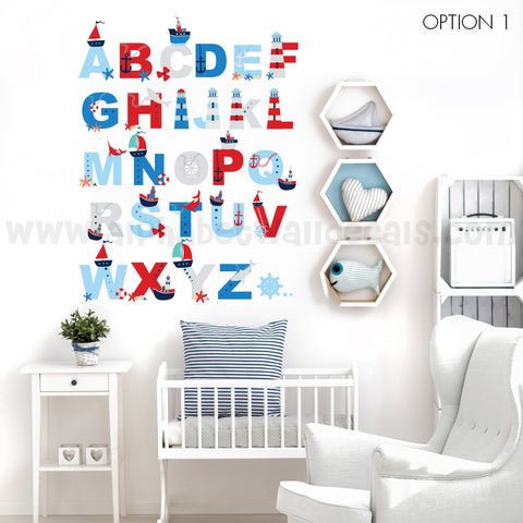Nautical Alphabet Wall Decal