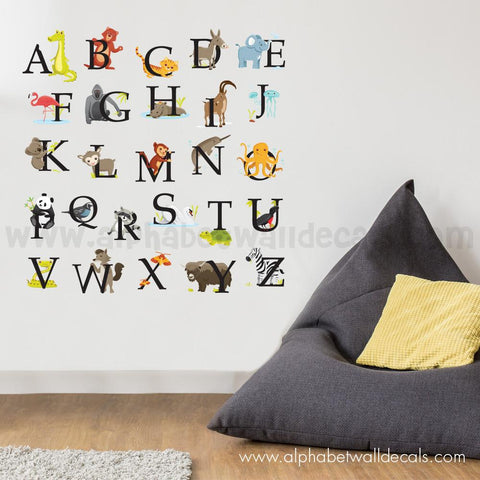 Alphabet Wall Decal - Animal Alphabet Decals