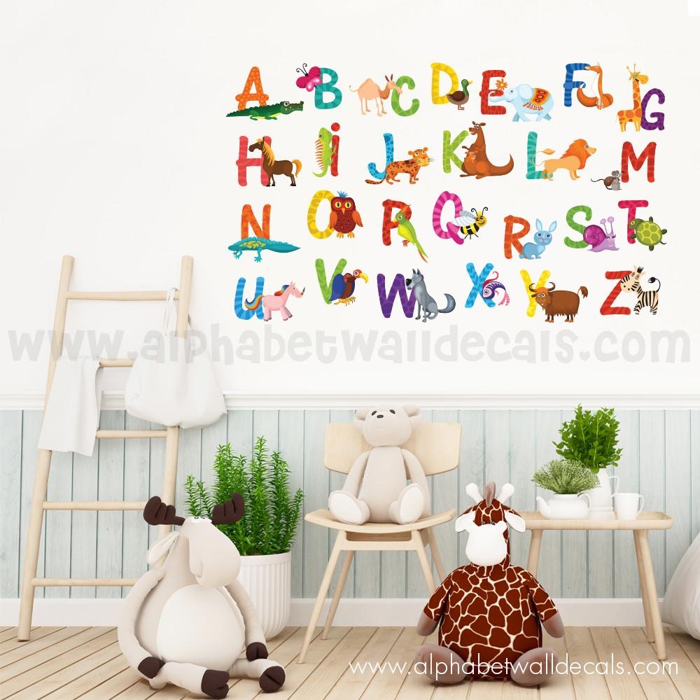 Alphabet Wall Decal - Animal Alphabet Decals  sc 1 st  Just For You Decals & Alphabet Wall Decal - Animal Alphabet Decals u2013 Just For You Decals ...