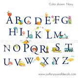 Alphabet Wall Decal - Mixed Objects