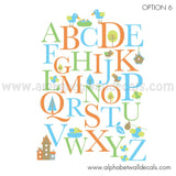 Bird Alphabet Wall Decal