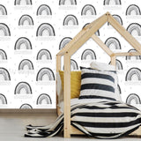 Black and White Rainbow Removable Wallpaper