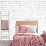 White Brick Removable Wallpaper