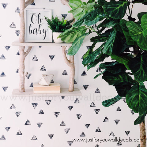Watercolour Triangle Pattern Wallpaper