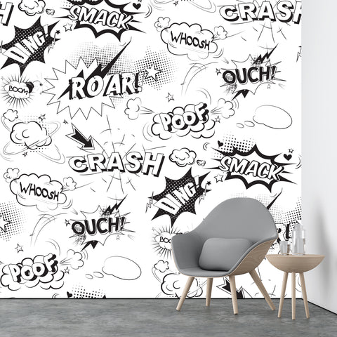 Comic Book Pattern Wallpaper