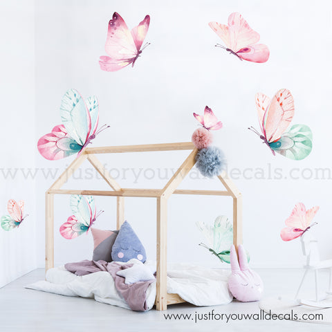 Butterfly Wall Decal, Watercolour