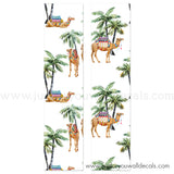 Boho Camel, Palm Tree Wallpaper, Removable Wallpaper
