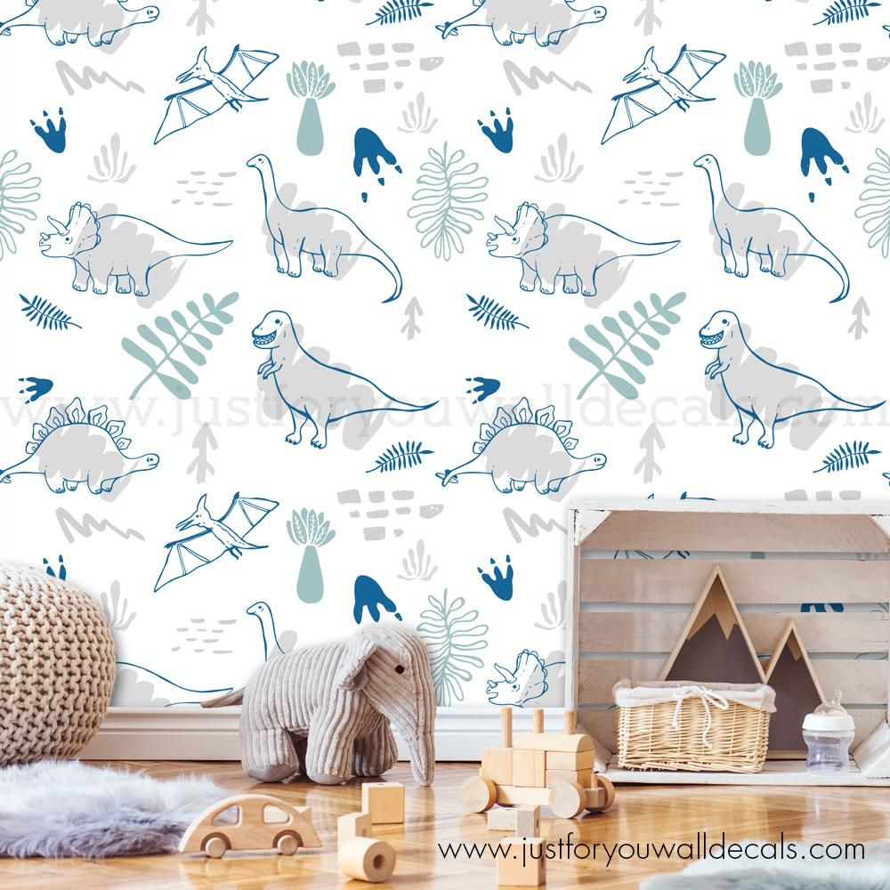 dinosaur removable wallpaper