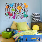 dinosaur alphabet wall decal