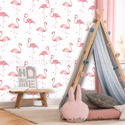 Cheeky Flamingo Removable Wallpaper
