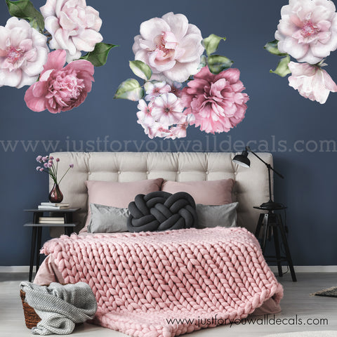 Floral Wall Decals, Spring Flower Wall Decals - Individual Flowers