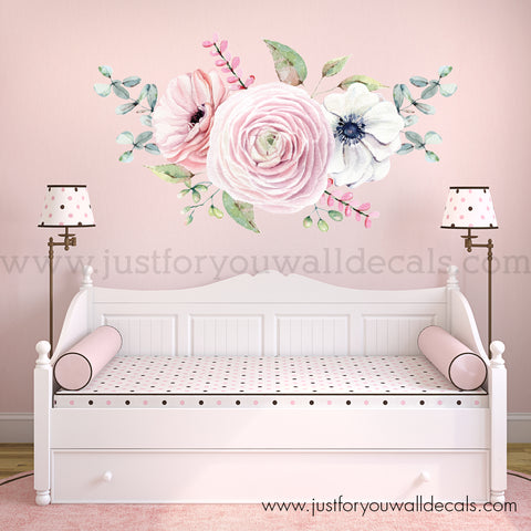 Spring Watercolour Floral Wall Decal