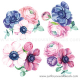 Flower Wall Decals - Spring Garden Roses **Mini Set**