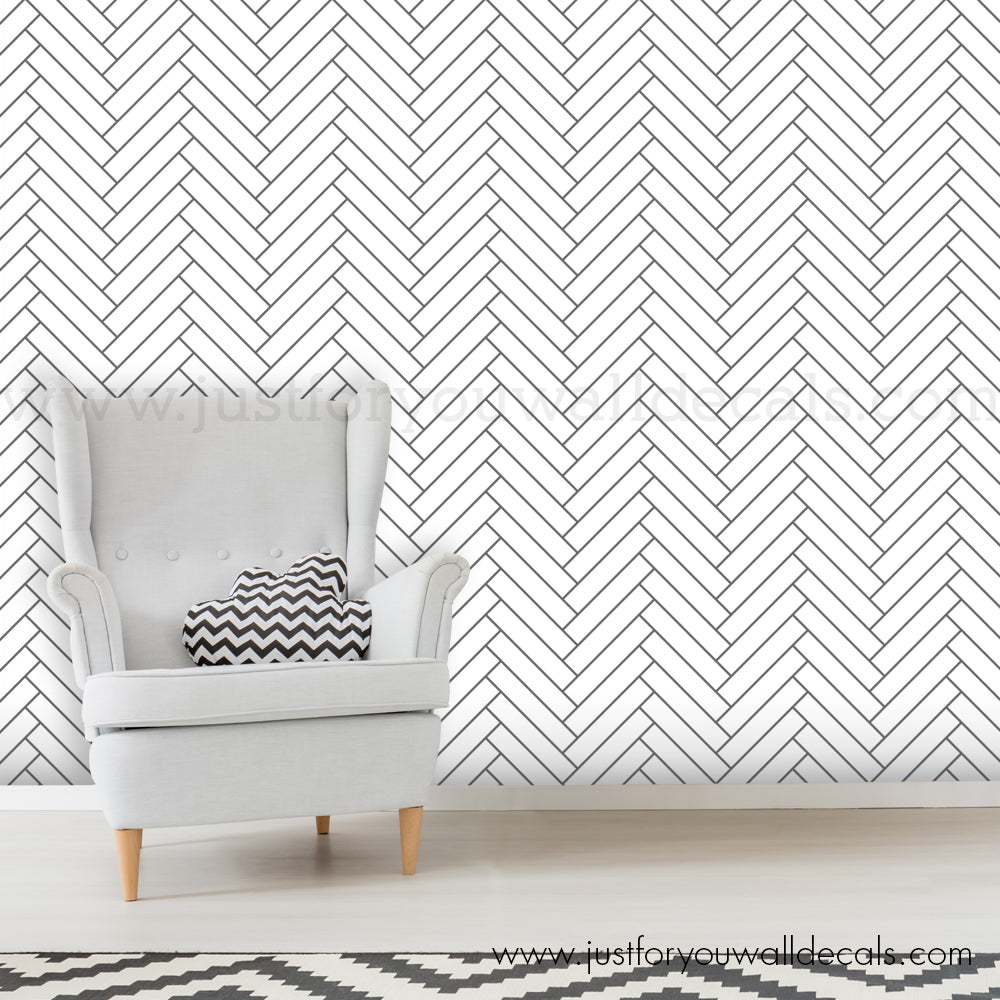 Chevron Herringbone Wallpaper Removable Wallpaper Wall Decals Removable Wallpaper Wall Murals Just For You Decals