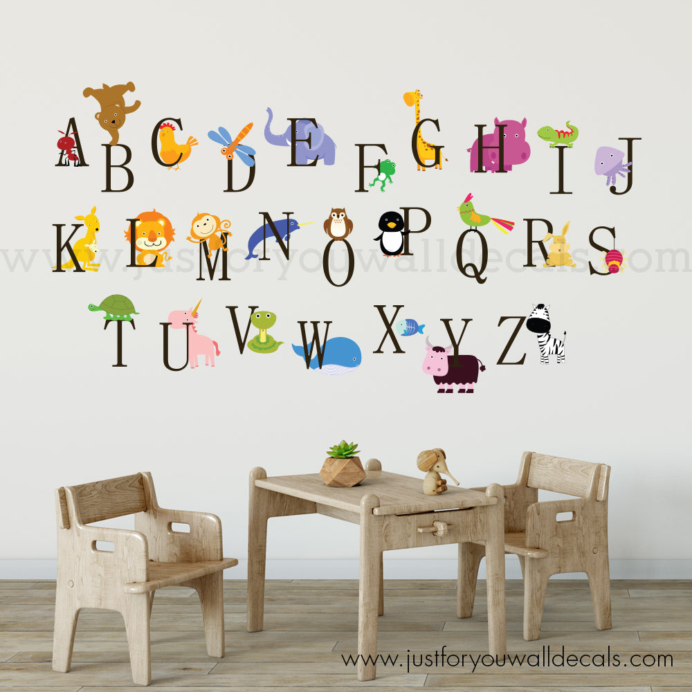 Alphabet Wall Decal - Animal Alphabet Decal