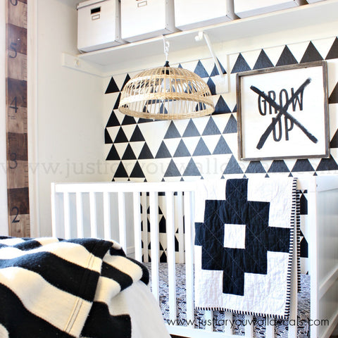 Large Triangle Pattern Wall Decals - 3.5 Inch, Set of 40