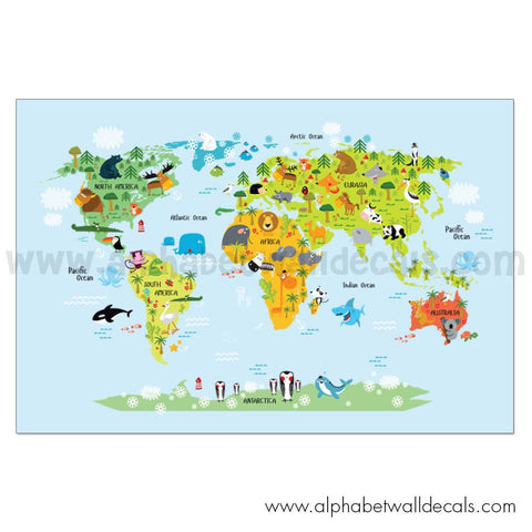 World Map Poster - World Map for Kids