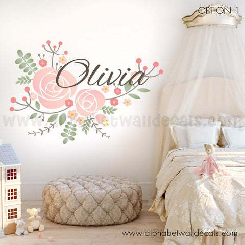 Flower Name Wall Decal