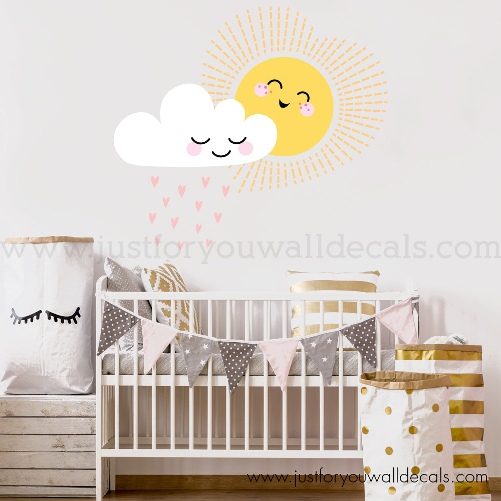 Sun And Cloud Wall Decal