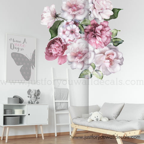 Floral Wall Decals, Spring Flower Wall Decals - Half Order