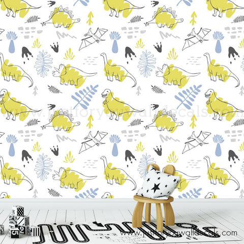 Dinosaur Wallpaper, Boy Nursery Wallpaper