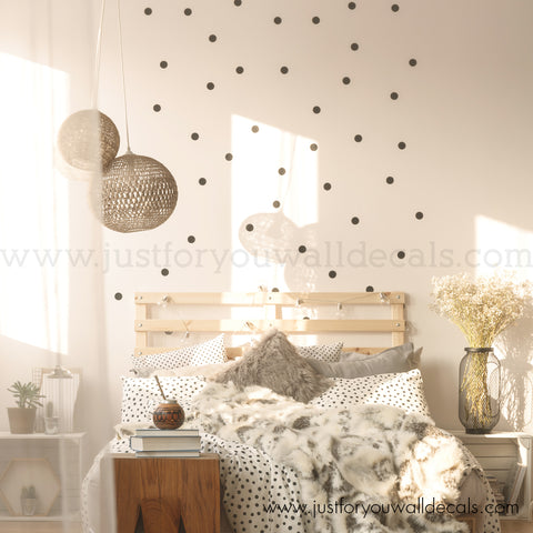 2 Inch, Polka Dot Wall Decals - Set of 60