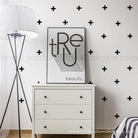 Plus Sign Pattern Wall Decals - Mini 2.5 Inch