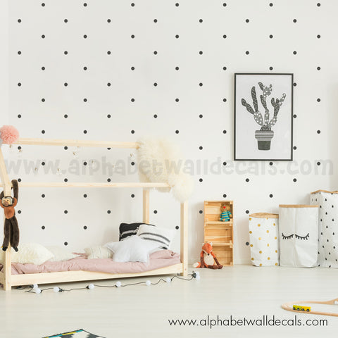 1 Inch, Mini Polka Dot Wall Decals - Set of 80
