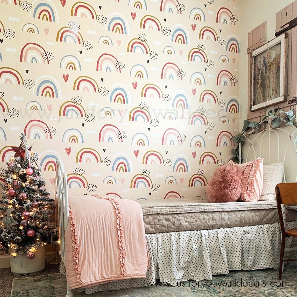 rainbow removable wallpaper