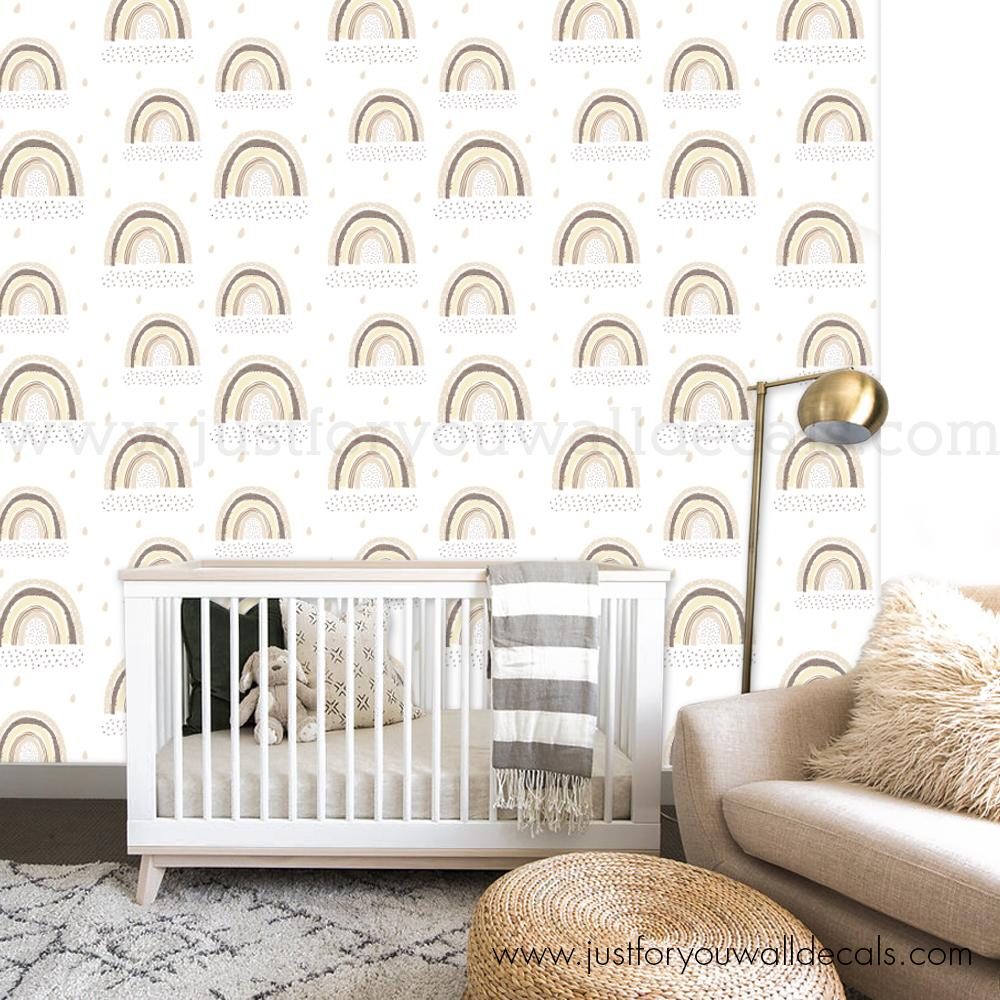 Pastel Rainbow Removable Wallpaper