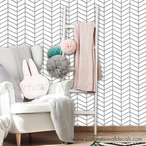 Chevron Pattern Wallpaper - Removable Wallpaper