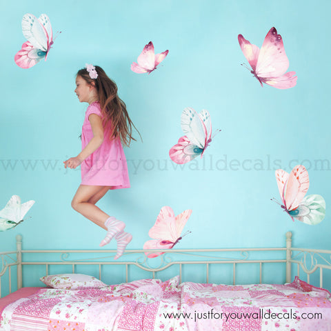 **Mini Set** Butterfly Wall Decal, Watercolour