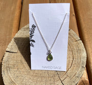 Naked Sage- Peridot - Rain Necklace