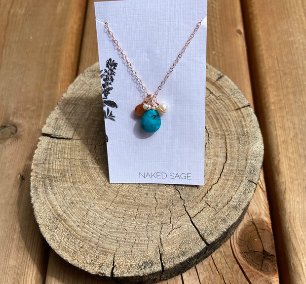 Naked Sage- Turquoise -Necklace
