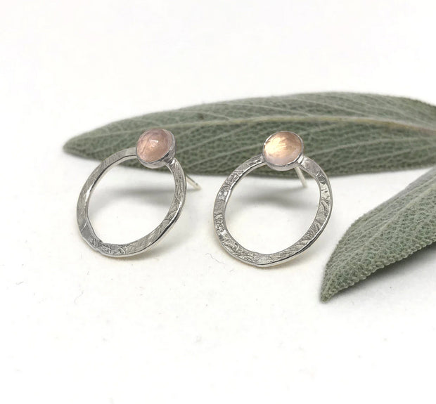 Naked Sage- Rose Quartz - Jupiter Studs