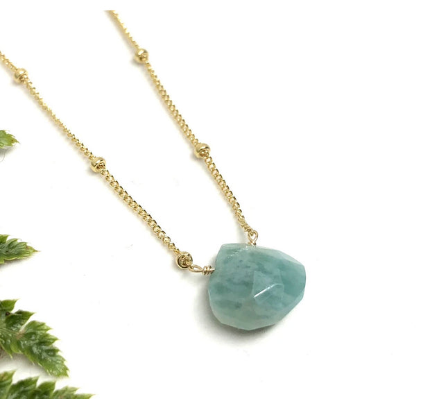 Naked Sage- Amazonite - Linnaea Necklace