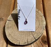Naked Sage- Amethyst - Rain Necklace