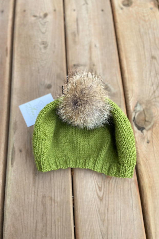 KNITS- 100% Wool Leaf Green Beret style