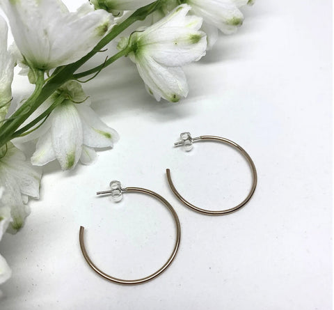 Naked Sage-Classic Hoops- Gold