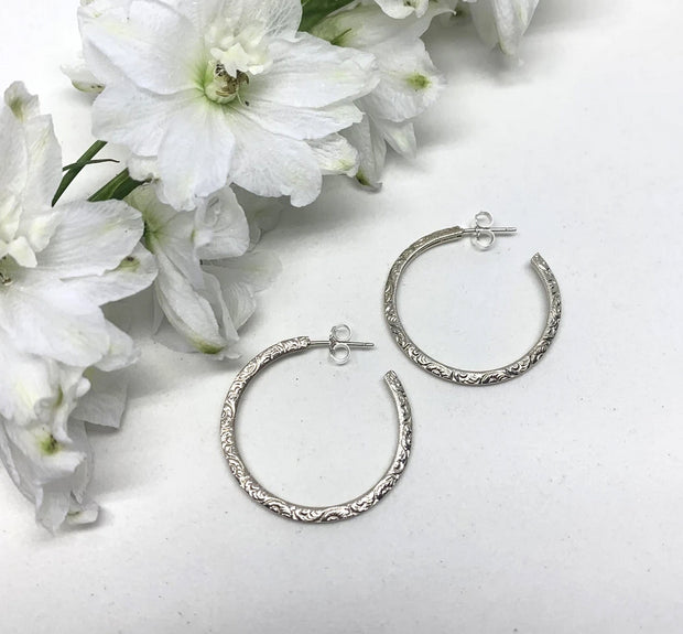 Naked Sage-Filigree Hoops