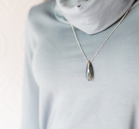 Naked Sage- Labradorite - Long Necklace