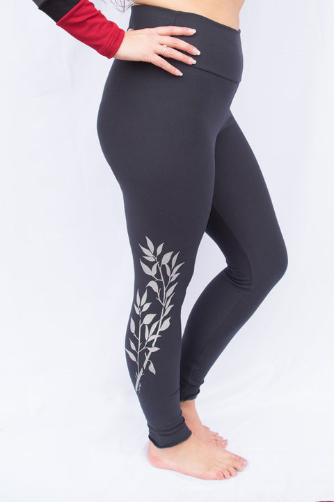 Bamboo MID Season Legging- Print Northern Willow